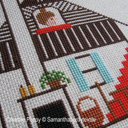 Samanthapurdytextile - Attic Window zoom 1 (cross stitch chart)
