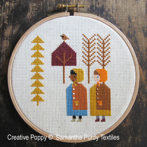 Autumn Trees cross stitch pattern by Samanthapurdytextile