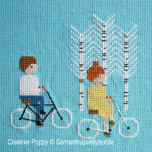 Bike Ride cross stitch pattern by Samantha Purdy