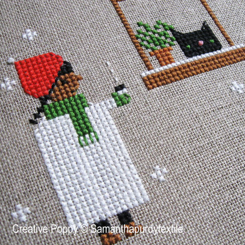 Samanthapurdytextile - First Snow zoom 1 (cross stitch chart)