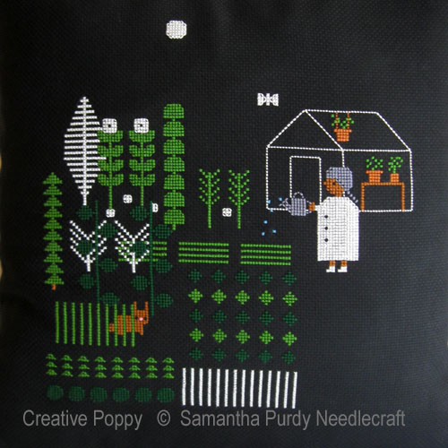 Night Garden cross stitch pattern by Samanthapurdyneedlecraft