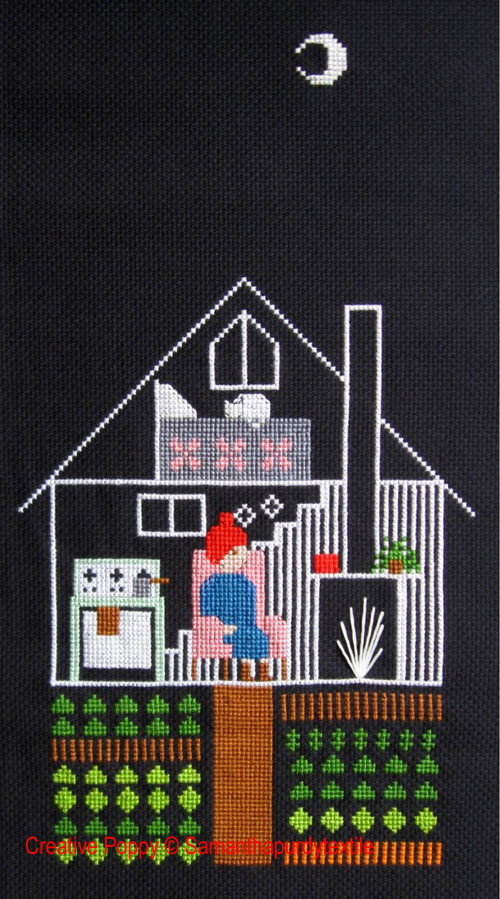 Samanthapurdytextile - Night Time (cross stitch chart)