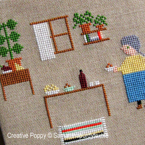 Samanthapurdytextile - Preparing Snacks (cross stitch chart)