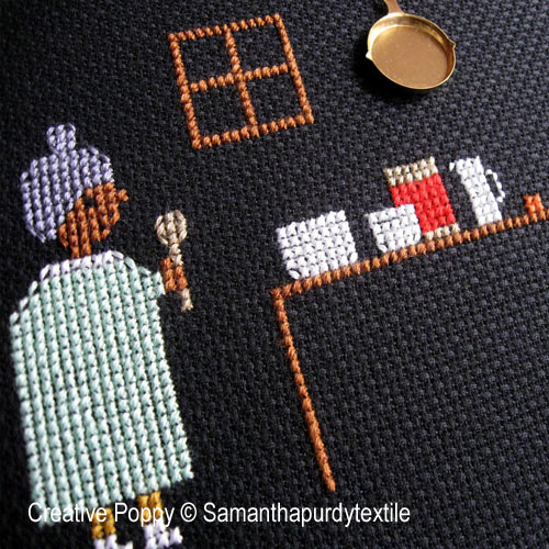 Samanthapurdytextile - Ready to Bake zoom 1 (cross stitch chart)
