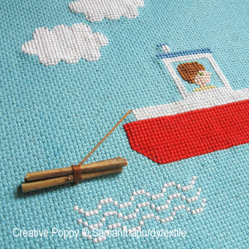 Boats & Sailing ships patterns to cross stitch