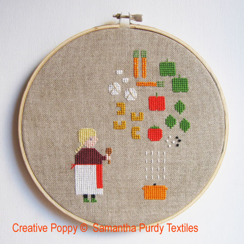 Vegetable Soup cross stitch pattern by Samanthapurdytextile