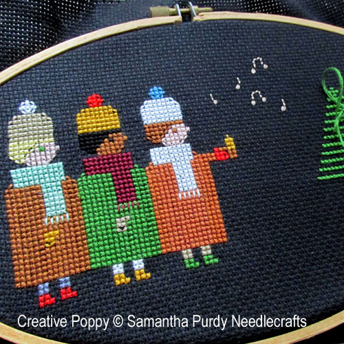 Twilight Choir cross stitch pattern by Samantha Purdy Needlecraft, zoom 1