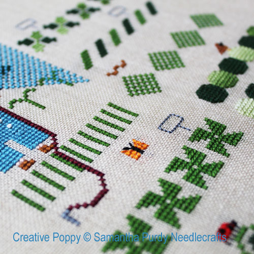 Vegetable Garden cross stitch pattern by Samantha Purdy Needlecraft, zoom 1