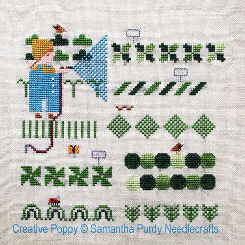 Vegetable Garden cross stitch pattern by Samantha Purdy Needlecraft