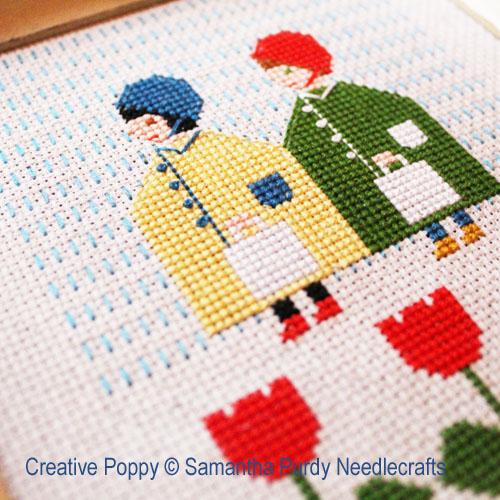 Raincoats cross stitch pattern by Samantha Purdy Needlecraft, zoom 1