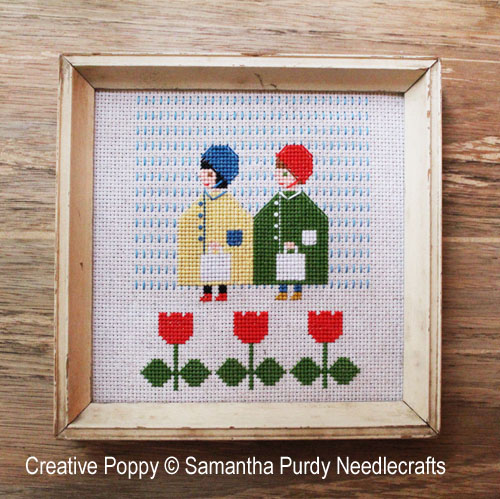Raincoats cross stitch pattern by Samantha Purdy Needlecraft