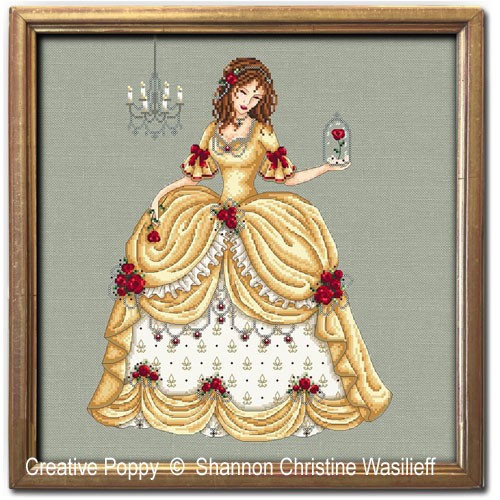 Belle cross stitch pattern by Shannon Christine Designs
