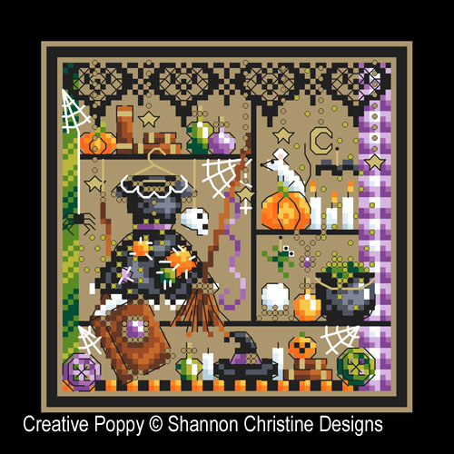 Broom Closet cross stitch pattern by Shannon Christine