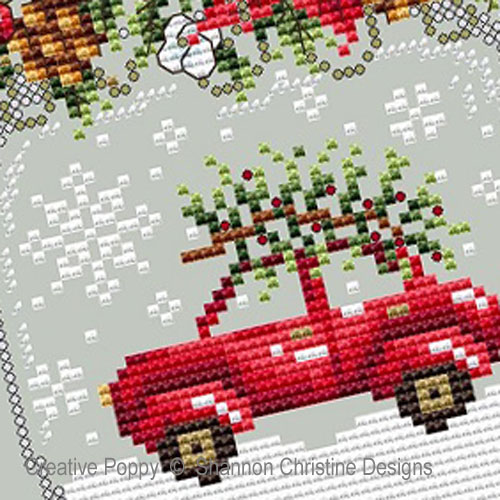 Car Snow Globe cross stitch pattern by Shannon Christine Designs, zoom 1