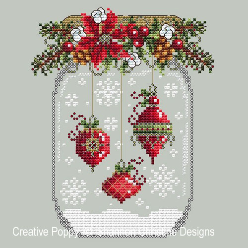 Christmas Ornament Snow Globe cross stitch pattern by Shannon Christine Designs