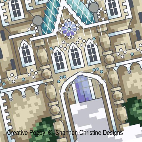 Ice Castle cross stitch pattern by Shannon Christine Designs, zoom 1