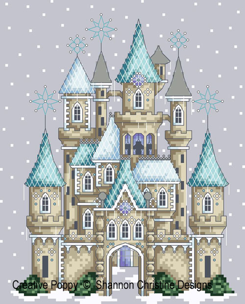 Ice Castle cross stitch pattern by Shannon Christine Designs