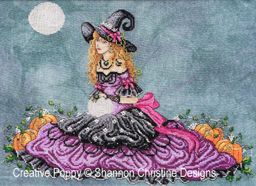 Luna cross stitch pattern by Shannon Christine Wasilieff