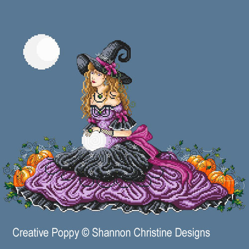 Luna cross stitch pattern by Shannon Christine Designs