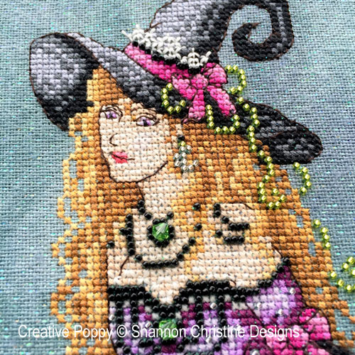 Luna cross stitch pattern by Shannon Christine Wasilieff, zoom 1