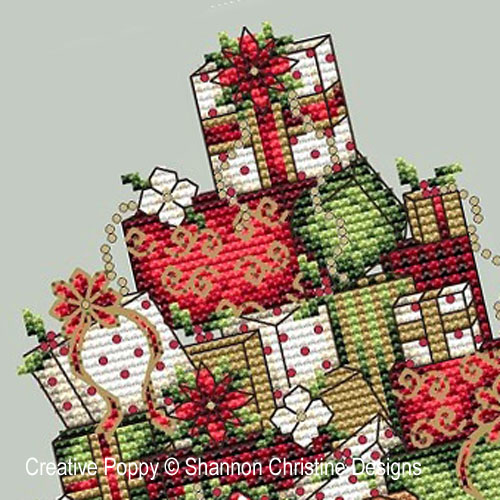 Santa's Sleigh cross stitch pattern by Shannon Christine Designs, zoom 1