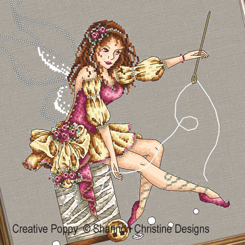 The Sewing Fairy cross stitch pattern by Shannon Christine designs, zoom 1