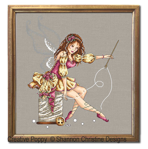 The Sewing Fairy cross stitch pattern by Shannon Christine designs