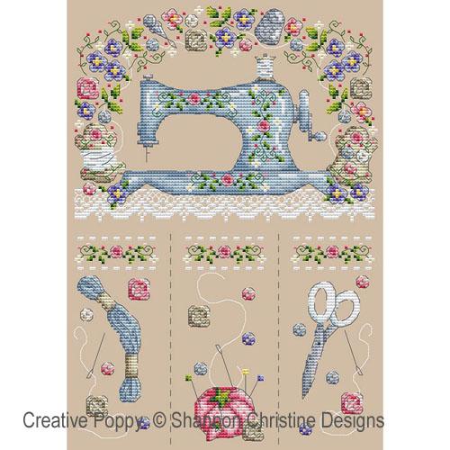 Sewing machine cross stitch pattern by Shannon Christine designs