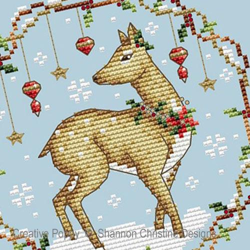 Woodlands Deer cross stitch pattern by Shannon Christine Designs