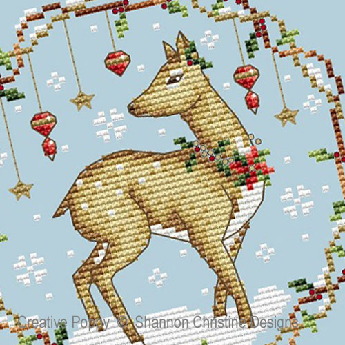 Woodlands Deer cross stitch pattern by Shannon Christine Designs, zoom 1