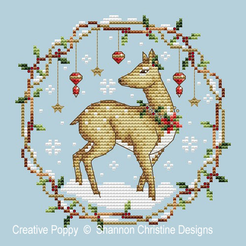 Woodlands Deer cross stitch pattern by Shannon Christine Designs