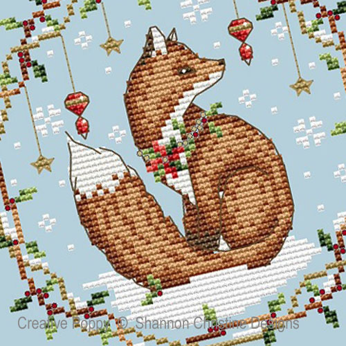 Woodland Fox cross stitch pattern by Shannon Christine Designs, zoom 1