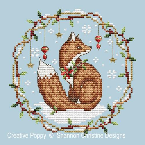 Woodland Fox cross stitch pattern by Shannon Christine Designs