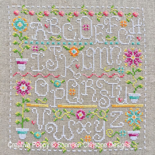 Funky Spring cross stitch pattern by Shannon Christine Designs