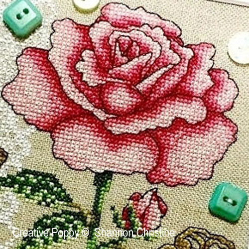Romantic Rose cross stitch pattern by Shannon Christine Designs