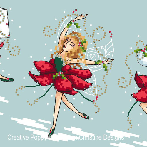 Holly Jolly Fairies cross stitch pattern by Shannon Christine Designs, zoom 1