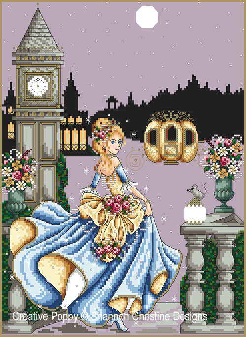 Cinderella cross stitch pattern by Shannon Christine Designs