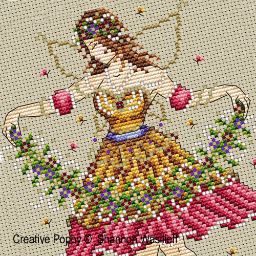 Garden fairy cross stitch pattern by Shannon Christine, zoom 1