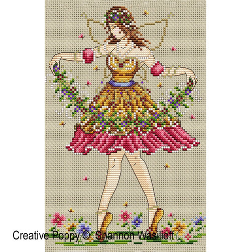 Garden fairy cross stitch pattern by Shannon Christine