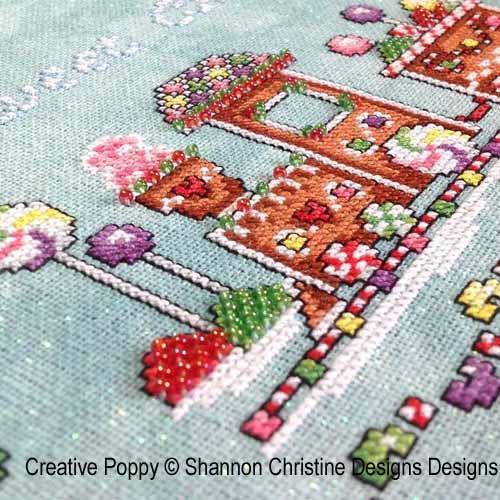 Gingerbread Train cross stitch pattern by Shannon Christine Designs