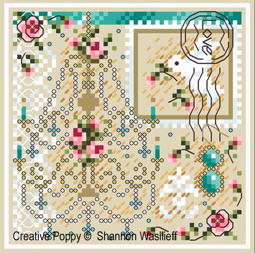 Romance in Paris cross stitch pattern by Shannon Christine Designs, zoom3