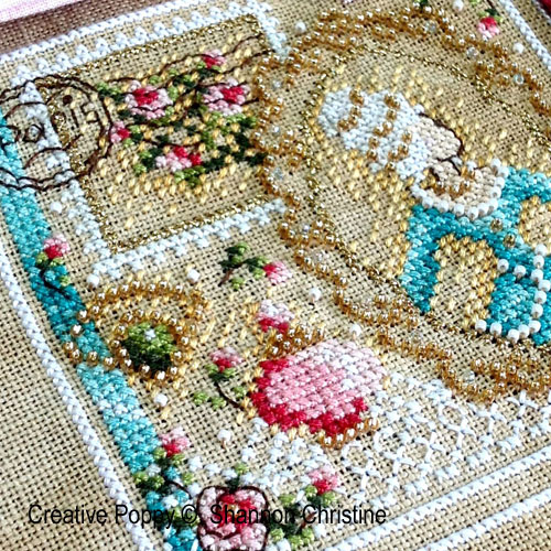 Romance in Paris cross stitch pattern by Shannon Christine, zoom 1