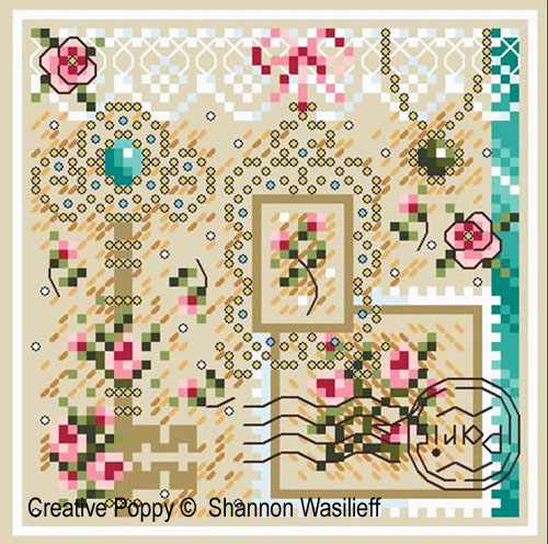 Romance in Paris cross stitch pattern by Shannon Christine Designs, zoom1