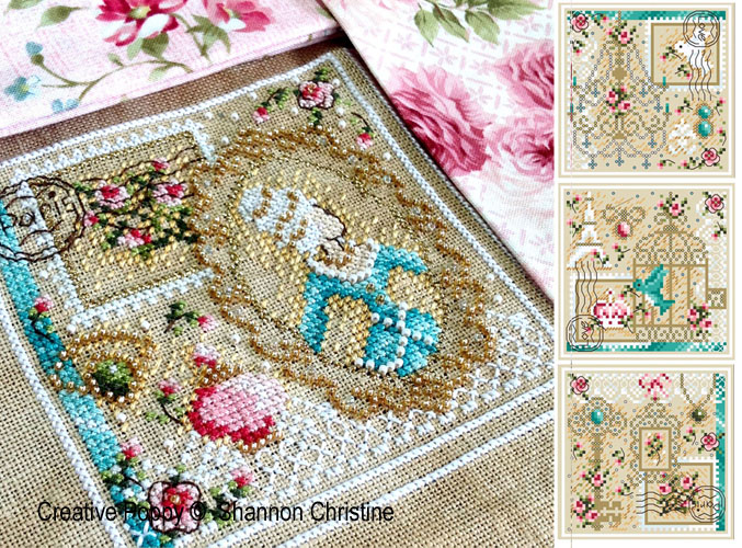French Boudoir spirit in patterns to cross stitch