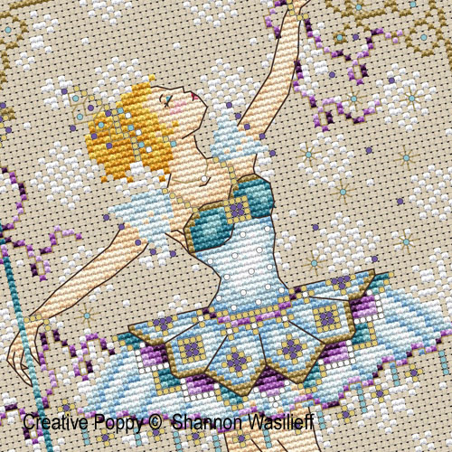 Snow Queen cross stitch pattern by Shannon Christine, zoom 1