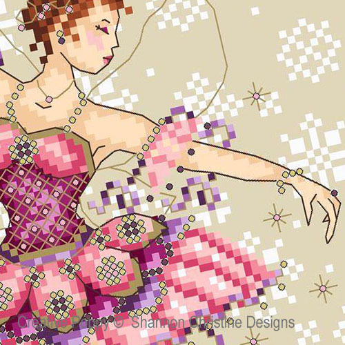 Sugarplum Fairy cross stitch pattern by Shannon Christine Designs, zoom3