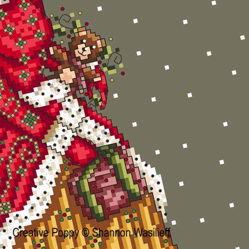 Victorian lady cross stitch pattern by Shannon Wasilieff, zoom3