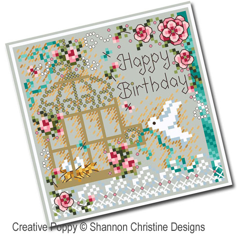 Bird Cage  cross stitch pattern by Shannon Christine Designs, zoom 1