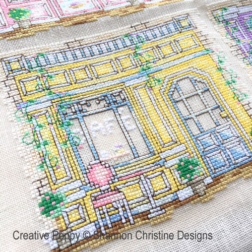 Parisian Shoppe Fronts cross stitch pattern by Shannon Christine Designs, zoom1