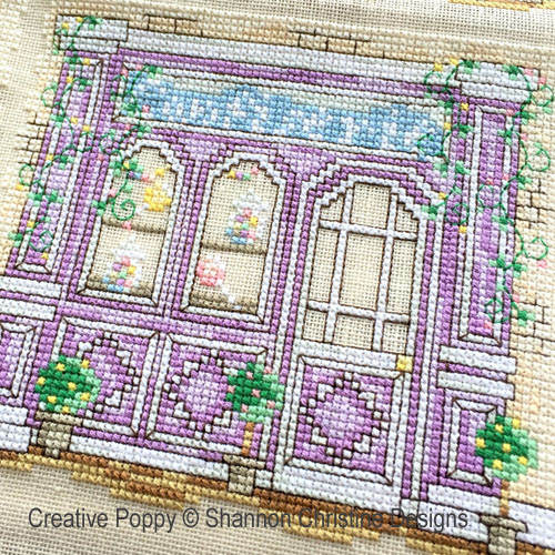 Parisian Shoppe Fronts cross stitch pattern by Shannon Christine Designs, zoom 4